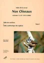 B. Index de la revue Nos Oiseaux Tome I