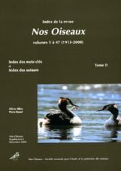 A. Index de la revue Nos Oiseaux Tome II