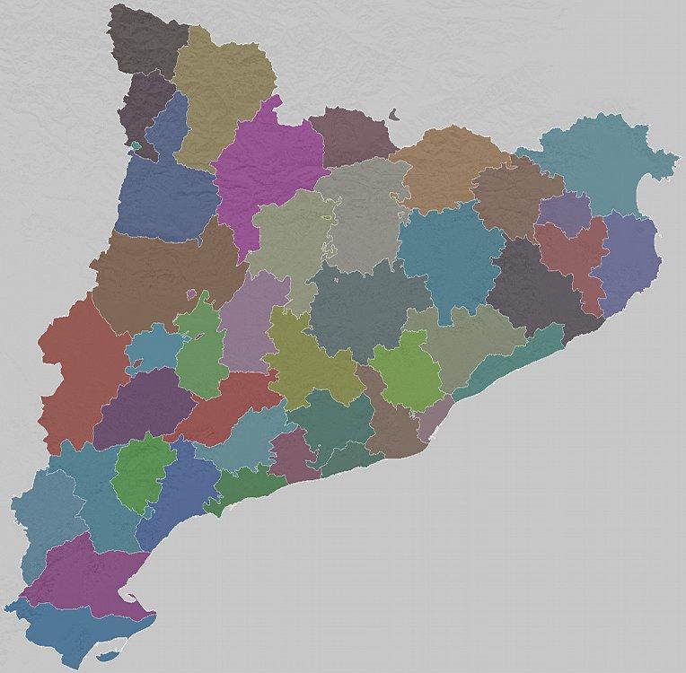 Mapa de comarques